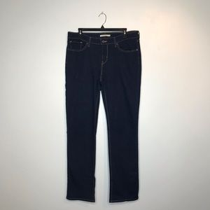 Levi's 714 Straight Leg Dark Wash Denim Jeans